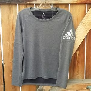 Adidas gray climalite sweatshirt small
